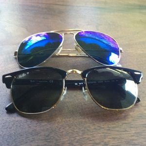 Combo Deal Ray Ban Clubmaster and Blue Aviators